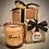 Thumbnail: Gift Set - Small Glass 'Trees' Candle + Heart Tea Lights