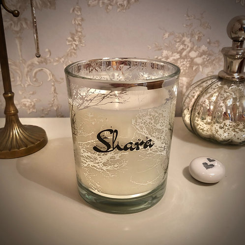 Large 'Trees' Candle - Silver