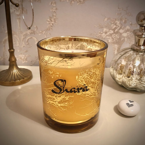 Large 'Trees' Candle - Gold