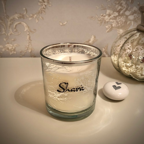 Small 'Trees' Candle - Silver