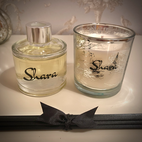 Gift Set - Small 'Trees' Candle + Reed Diffuser