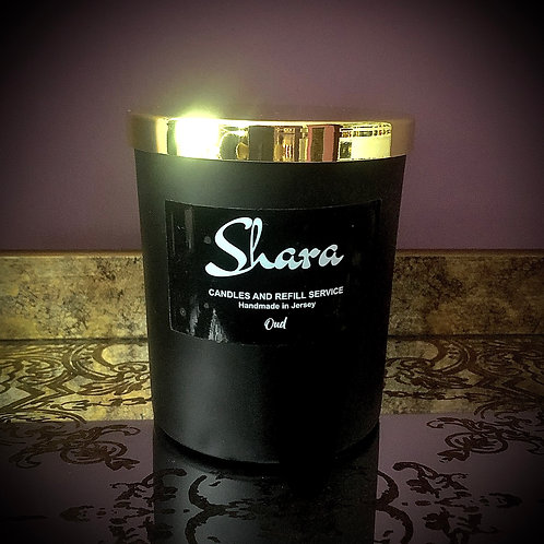 Glass Candle - Black