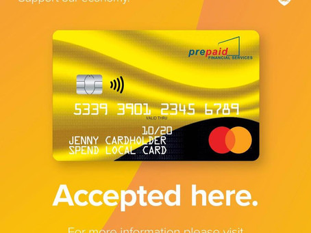 Use your Spend Local cards with us!