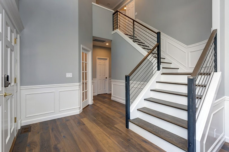 Painted staircase and railings