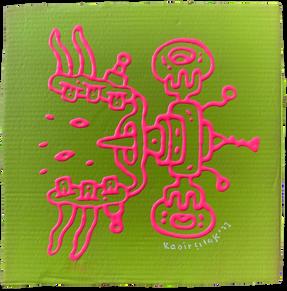 Acrylic on cardboard