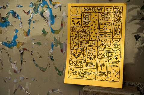 """""""Grid"""" silkscreen poster"""
