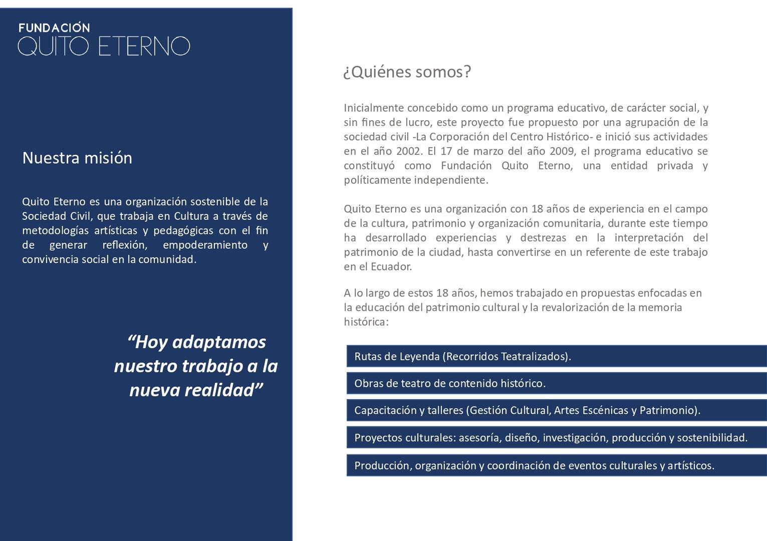 Quito Eterno - Historias que curan 2