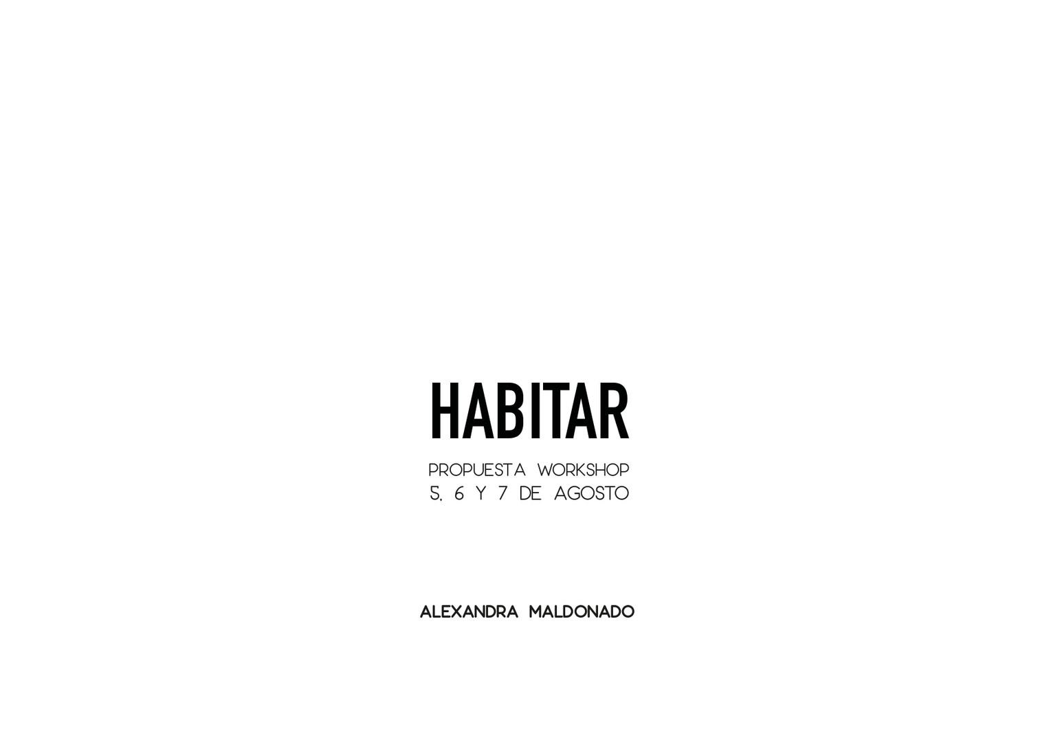 Habitar - Fotografía Documen1