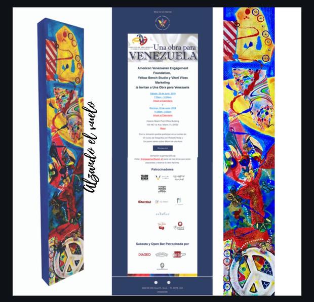Una obra para Venezuela. Saturday June, 23  2018. 7pm-10pm