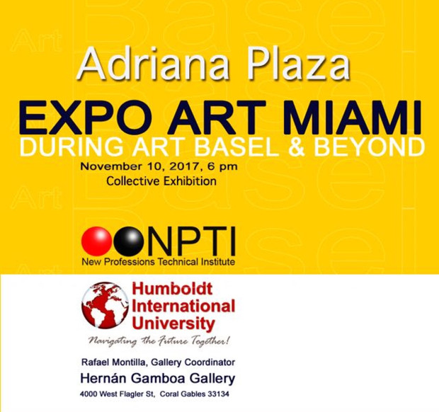 Expo Art Miami. November 10th, 6:00 pm