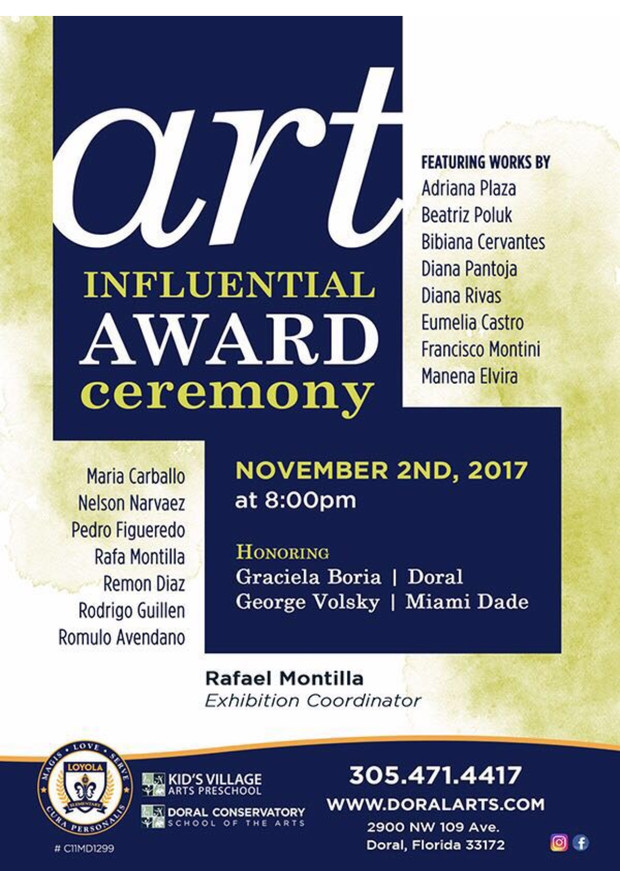 Art Influential Award Ceremony. November 2nd 2017 at 8:00 pm