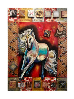 """The Golden Horse-Akhal Teke"""