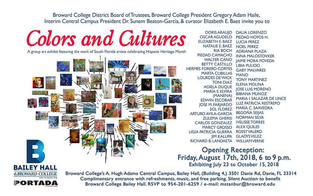 """Grand Opening """"Colors and Cultures"""" Bailey Hall at Broward College"""