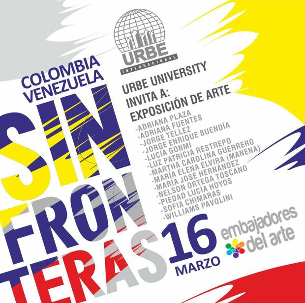 """Sin Fronteras"". Urbe University.          ART EXHIBIT. March 16, 2017"