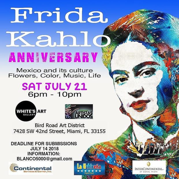Frida Kahlo Anniversary Art Exhibit