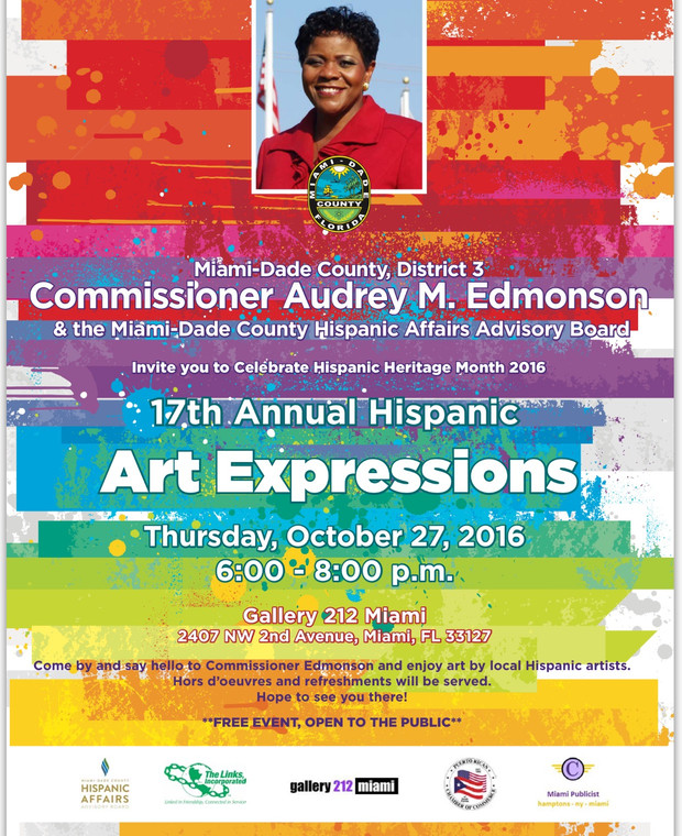 17th Annual Hispanic Art Expressions Thursday, October 27, 2016 6-8 pm