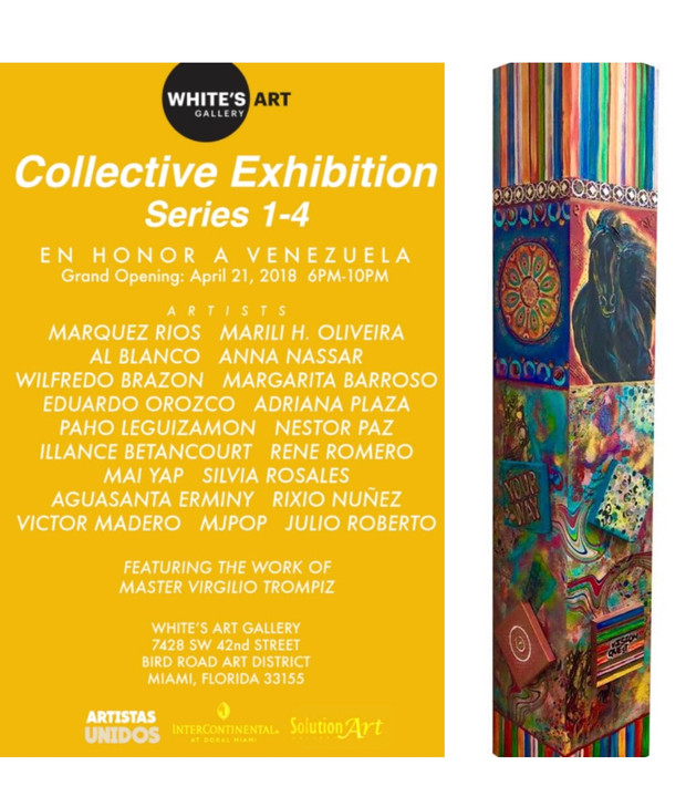 Collective Exhibition White's Art Grand Opening April 21, 2018 6PM-10PM