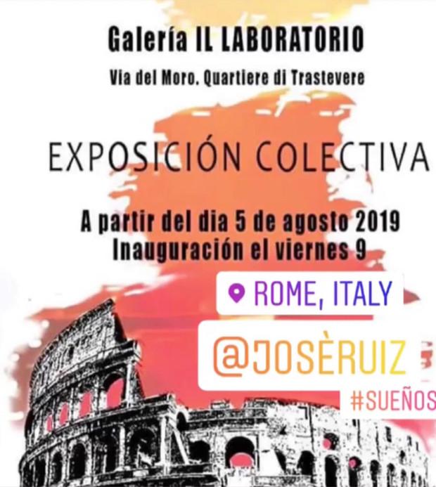 Collective Exhibition Rome Italy/ August 2019-Galeria Il Laboratorio