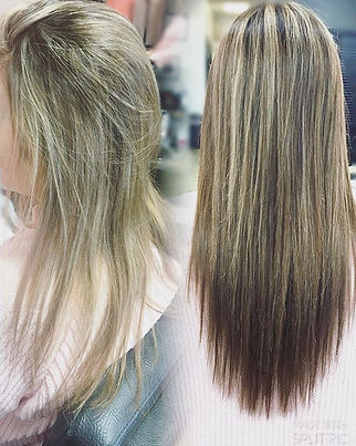 Before and after #hairextensions_She sai
