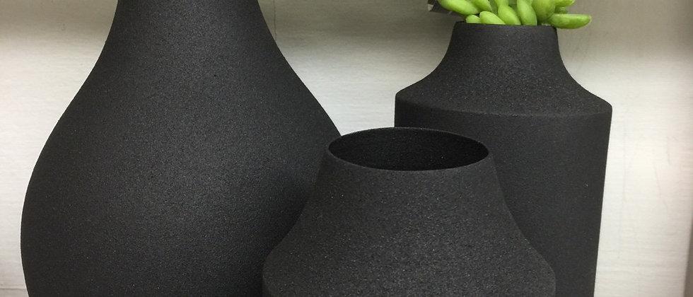 Black Enamel Vases