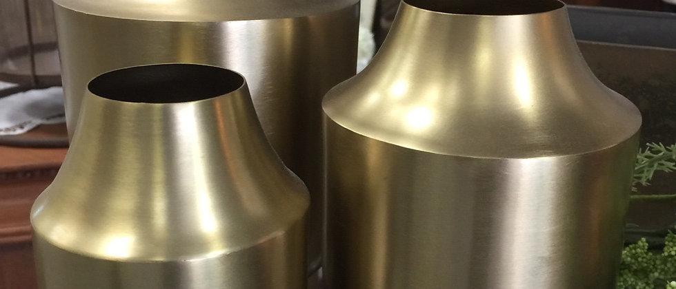 Brass style vases