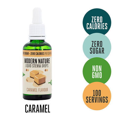 Stevia Drops Sweetener - Caramel - 50ml