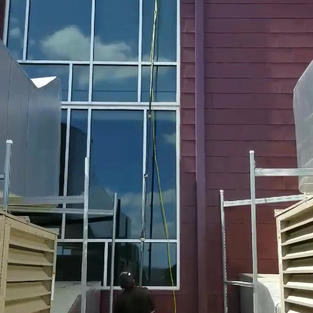WINDOW CLEANING AT A CHURCH