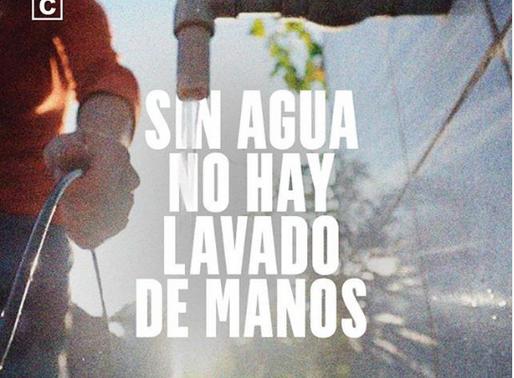 Sin agua, no hay lavado de manos: el drama de las zonas de catástrofe hídrica en pandemia.