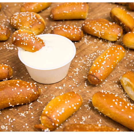 Soft Pretzel Nuggets with Homemade Cheese Dip