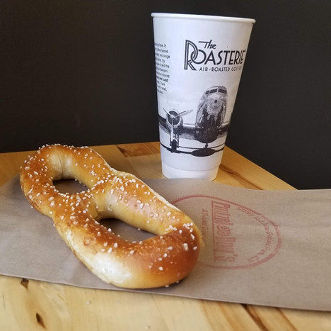 Pretzel with Local Roasterie Hot Coffee