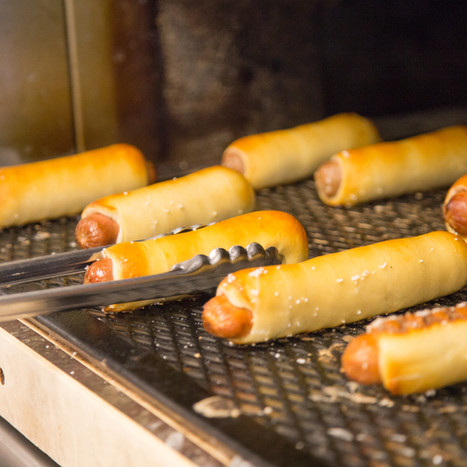 Pretzel Dogs for Catered Lunch or Dinner