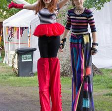 Stilt walkers at HMF 2019. Trevor Pearson Photography