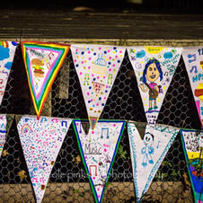 HMF bunting made by Healesville Primary School students. Nicole Pinkster Photography