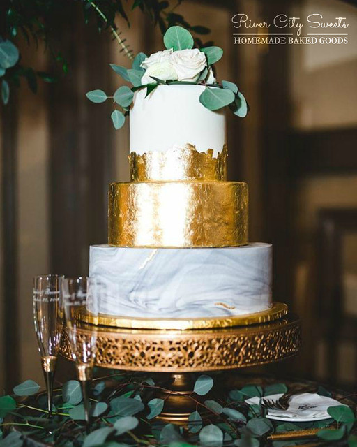 Marble and Gold Cake