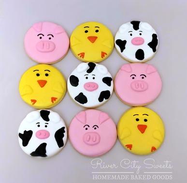 Farm Face Cookies