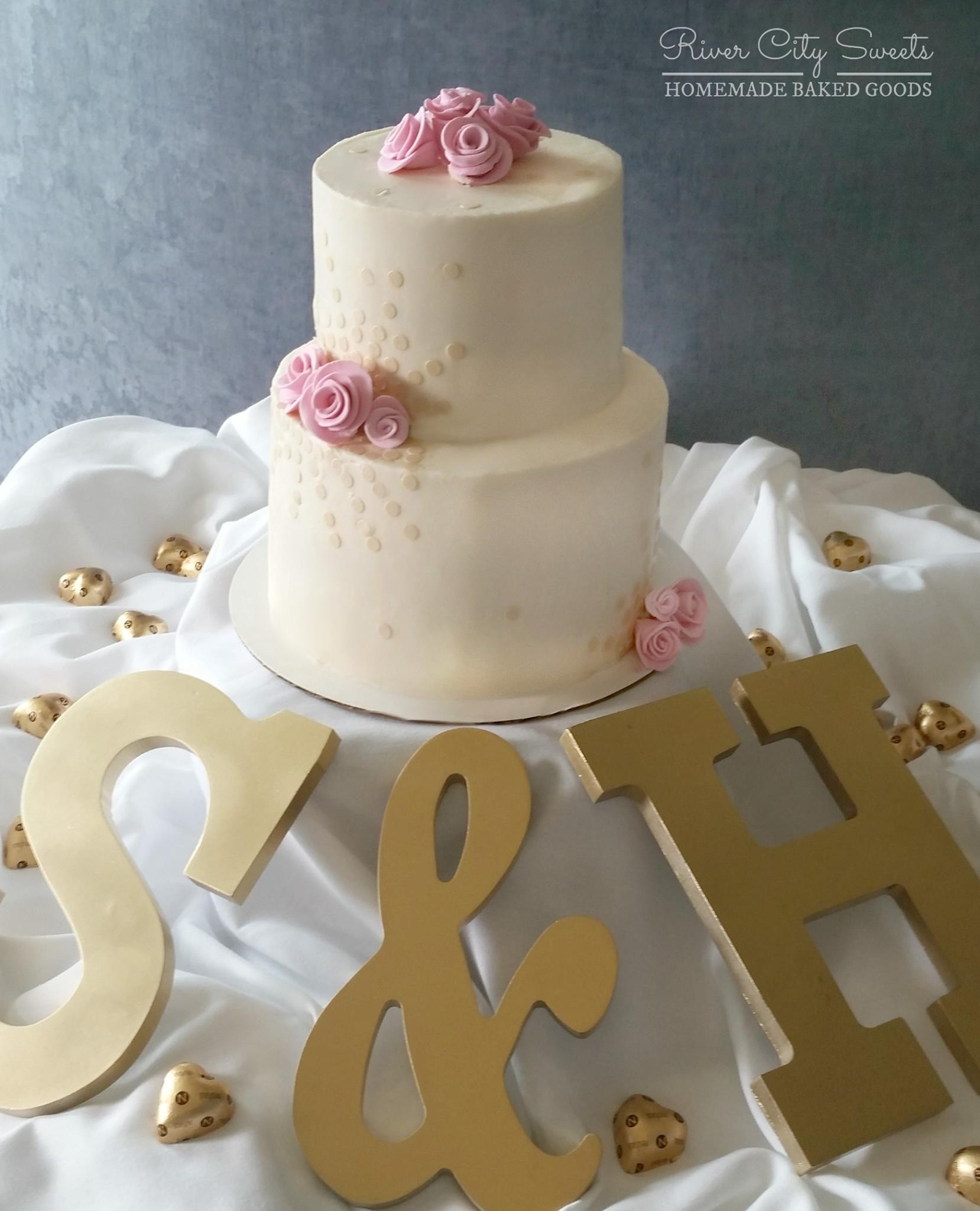 Champagne and Blush Cake