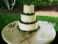 Rustic Cake Lavender Wedding Cake