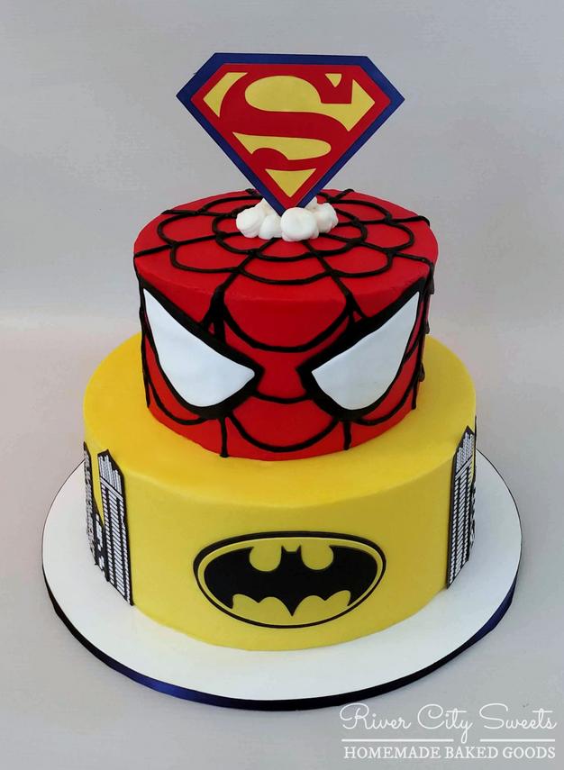 Superhero Cake