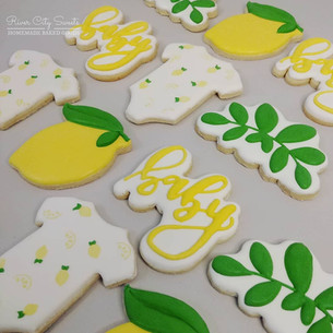 Lemon Baby SHower Cookies
