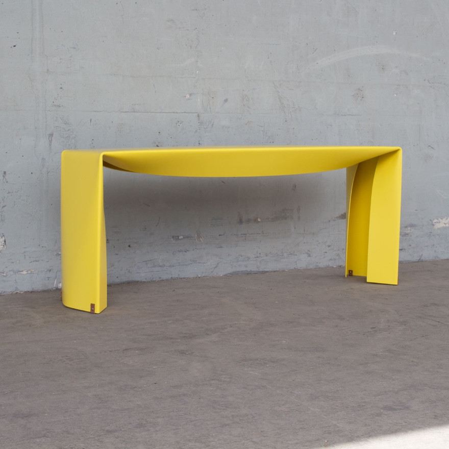 Folded Bench in yellow