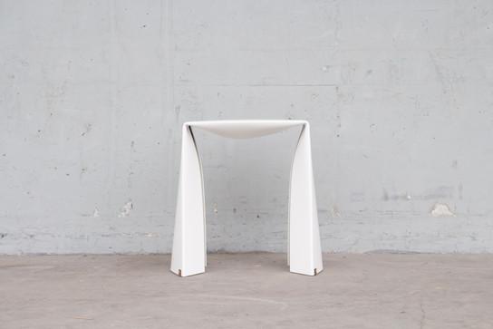 Folded Stool in white
