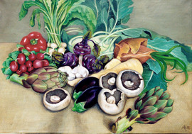 Commission to paint a still life of vegetables