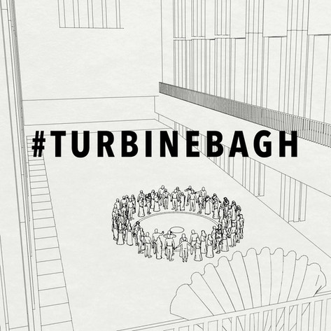 4. When the India protests broke out I joined U.K. activists. To support the resistance we planned a joint artists' demonstration at Tate Modern. We would sing protest songs around a rice circle in the Turbine Hall. Turbine Bagh was inspired by Shaheen Bagh, the women-led epicentre of the resistance in India.