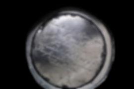 Unterboden Leuchter mit Inschrift von 18