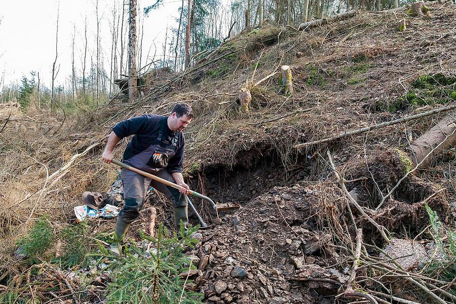 Sammeln auf der Grube Dalln in Scheuerfe