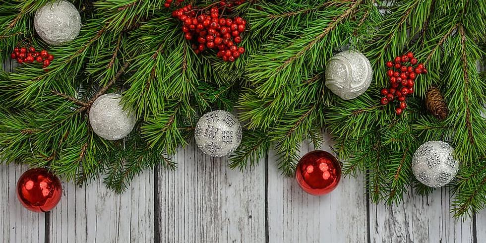 Toile de boules de Noël en galets