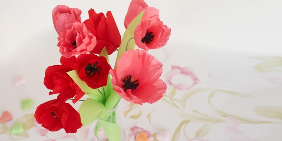 Fleurs en papier sous cloche (Enfants de 8 à 12 ans)