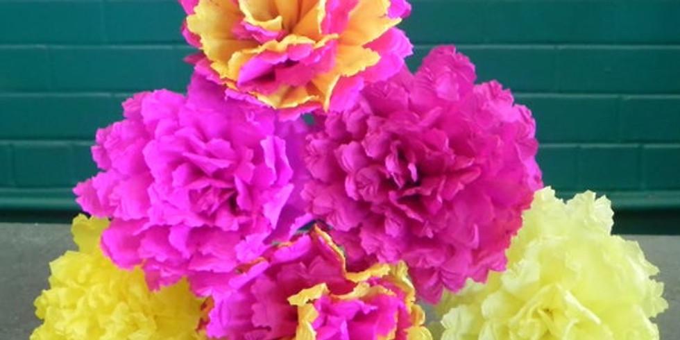 Fleurs en papier crépon (Enfants de 5 à 12 ans)