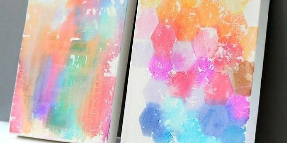 Toile coloré au papier soie (Enfants de 5 à 8 ans)