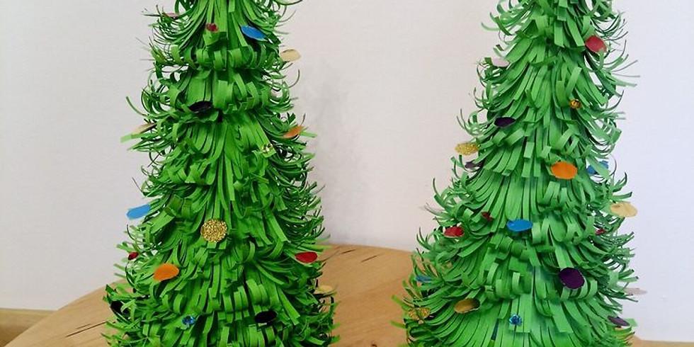 Sapin de Noël en papier (Enfants de 5 à 12 ans)